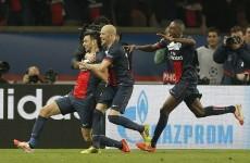 Pastore strike puts PSG in control against Chelsea