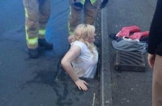 Girl gets stuck in up to her waist in drain while trying to save iPhone
