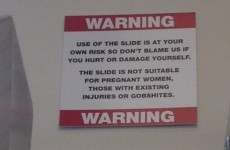 Sign on fun slide at new Ryanair offices warns 'no gobshites'