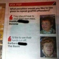 This vox pop interviewee REALLY has it in for graffiti artists