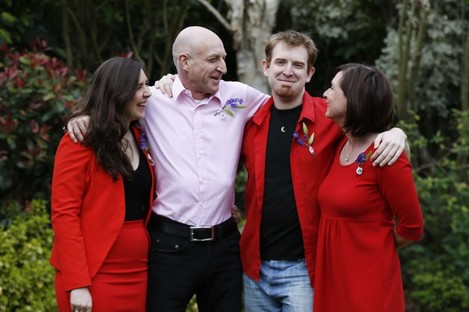(L-R) Sophie, Gerry, Simon and Helen Appleby.