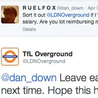 London Overground sends cheeky Twitter reply to man running late for work