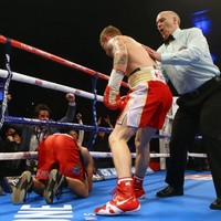 Here's the crazy finish to Carl Frampton's KO win over Cazares