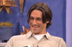A young floppy-haired Jon Hamm fails to get the shift on 90s dating show