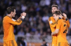 Bale beauty keeps Madrid on Atletico, Barca's tails