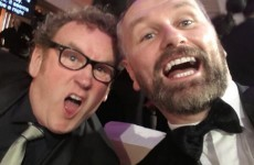 Dáithí Ó Sé and Colm Meaney took a much better IFTA selfie