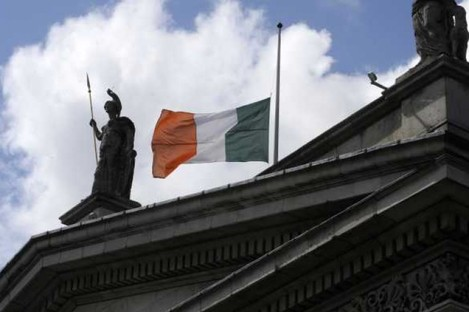 The GPO flag flies at half mast to mark the death of former Taoiseach Garret FitzGerald.