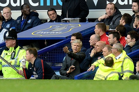 Arsenal manager Arsene Wenger during yesterday's game.