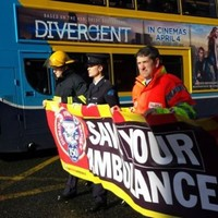 Dublin firefighters march against ambulance service being moved to HSE