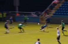 GIF: Athlone's James O'Brien scores a brilliant 20-yard lobbed own-goal