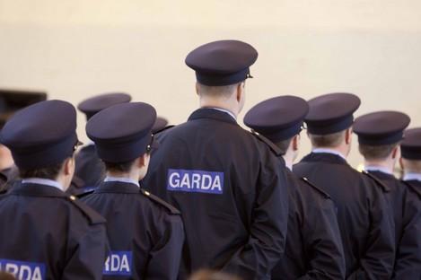 New Garda Reservists listen intently to interim Garda Commissioner Noirin O'Sullivan.