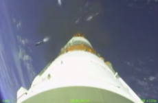 Watch: This is what it looks like to be blasted into space on the side of a rocket
