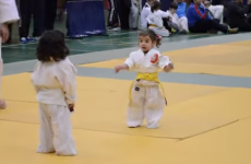 Two little girls have the most adorable Judo fight ever