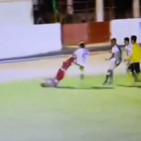 Studs fly before eight red cards are flashed in this crazy brawl in Brazil