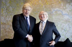 'They've been preparing freshly baked biscuits': When Michael D met Boris Johnson (video)