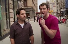 Paul Rudd runs through New York, asking people to have sex with him*