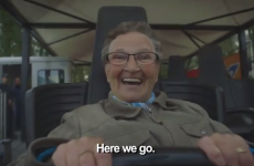 This 78-year-old granny had the best craic on her first roller coaster ride