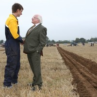It's day four of President Higgins' trip to the UK and today he's heading to a farm