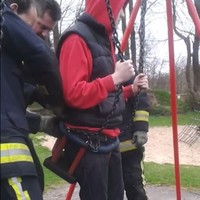 UK fire crews called to free teenager stuck in baby swing