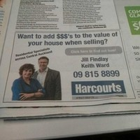 Rather unfortunate real estate ad appears in New Zealand newspaper