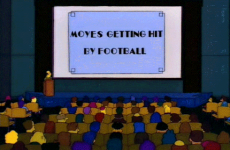 Someone has made a clever 'Moyes Getting Hit By Football' Simpsons mash-up