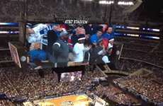 Father and son pull off epic Jumbotron dance display