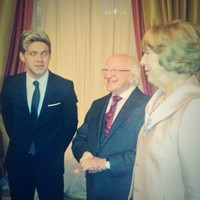 Niall Horan met President Higgins and Twitter was very confused