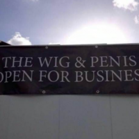 The internet can't get over this pub's rude 'open for business' sign