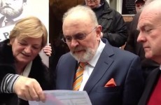 'The banks are stinkers': Senator Norris joins protest at Dublin auctioneers
