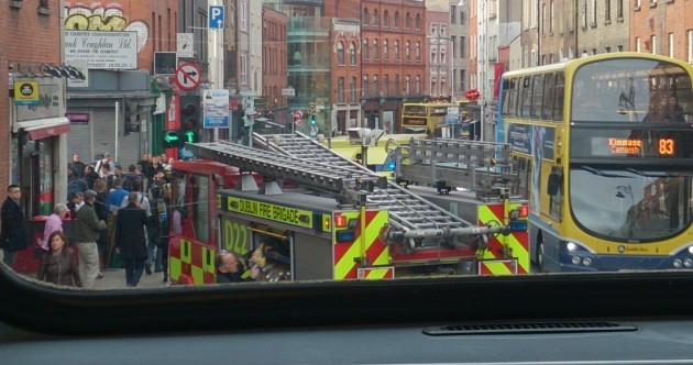 Two injured, as rush-hour crash between jeep and ambulance brings city centre to standstill
