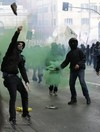 Police fire tear gas on anti-austerity protesters in Rome, 20 officers were injured in violence