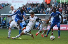 Chelsea stay in title hunt with victory over Swansea