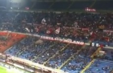 Milan fans remember Hillsborough by singing You'll Never Walk Alone at the San Siro