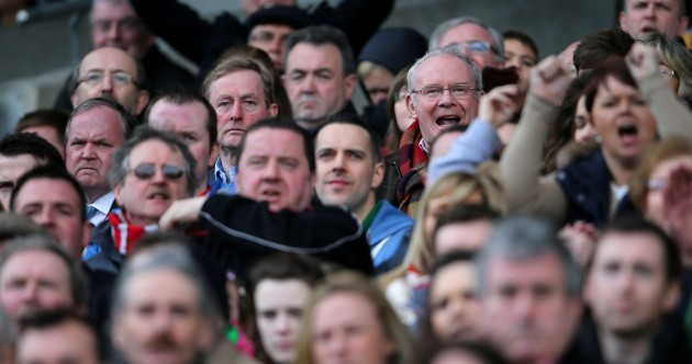 Spot a sad Enda and a happy McGuinness at Croke Park as Derry beat Mayo
