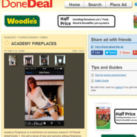 This fireplace ad on DoneDeal comes with an unexpected extra