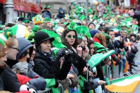 St. Patricks Day Parade in Dublin.