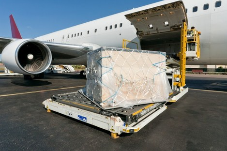 File photo of a cargo plane being loaded.