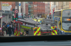 VIDEO: Shocking CCTV footage of rush-hour ambulance crash in Dublin city centre