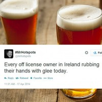 The whole of Ireland is preparing for a trip to the off-licence this evening