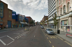 Two men stamp on head of victim outside shoe shop