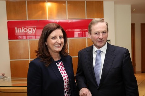 Trinity MD Edel Creely with Taoiseach Enda Kenny