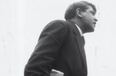 Video: Watch Michael Collins address a crowd before it gets broken up by gunshots