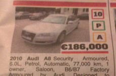 So there's a bulletproof car for sale in Galway...