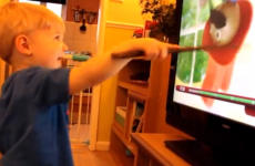 Little boy suddenly realises he's a wizard