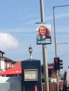 "Fianna Fáil candidate accused of ""flouting regulations"" as election posters go up four days early"