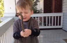 Small boy can't say 'stick'