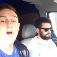 Three Irish lads in a van perform epic Tina Turner lip-sync