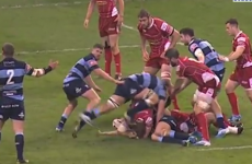 Munster-bound Robin Copeland sent off for stamping on Liam Williams' head