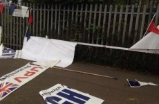 Police investigating 'hate crime' after loyalist flags and banners damaged
