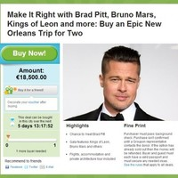 Groupon is offering Irish users the chance to meet Brad Pitt for €18k